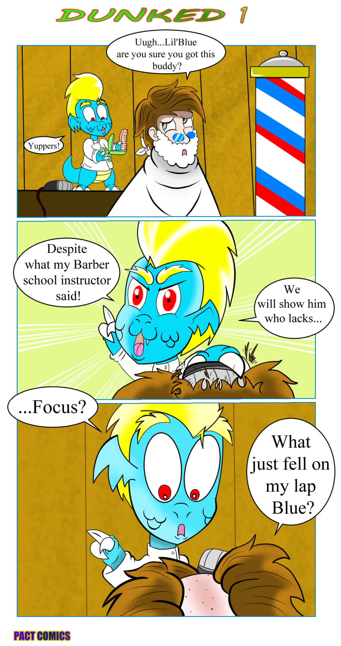 Christian webcomics - Lil'Blue, Pact Comics